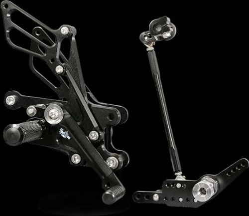 VooDoo Industries VRD1332 Black Rear Set for Kawasaki Ninja 650//ER-6f//ER-6n