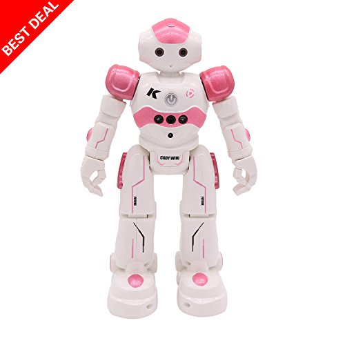 Nice MKLOT Distant Management Robots – RC Humorous Toys Robots With LED Lights,Good Dancing Gesture Distant Management Programmable, Singing, Dancing, Strolling, Christmas Current Robotic Toys For Children,by (Pink)  Critiques