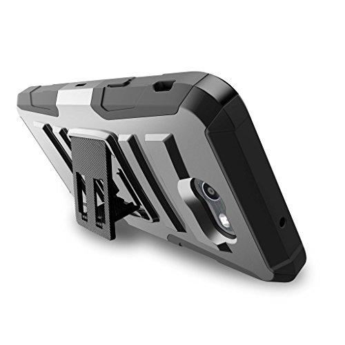 TurtleArmor   Compatible for Samsung Galaxy J7 2017 Case   J7 Prime   J7 Sky Pro [Hyper Shock] Hybrid Dual Layer Armor Holster Belt Clip Case Kickstand - Lake Fishing by TurtleArmor (Image #3)
