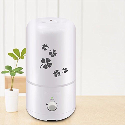 Ultrasound Atomization Humidifier Colorful Gradient Light (White) - 7