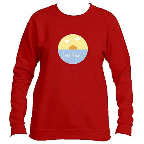 Lake Powell Lake Sunset - Arizona Unisex Crewneck Sweatshirt (Large, Cherry Red)