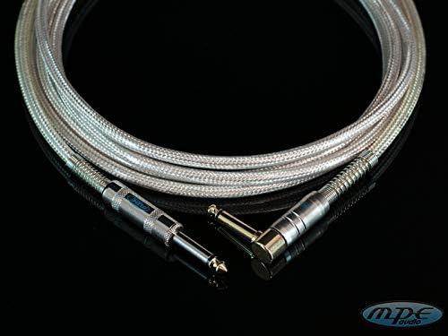 MPE 6,3mm ed un Jack diritto D Cavo super professionale per strumenti e pedali effetto 1mt Made in Italy un Jack mono ad angolo 90/° pipa D 6,3mm mod: G102TA-1 metro