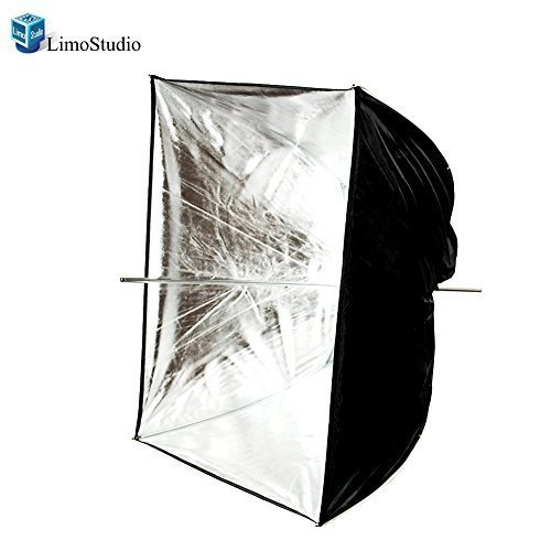 LimoStudio Photo Video Photography Studio 24'' Silver Square Multifunctional Softbox Diffuser Reflector Umbrella, AGG1374 by LimoStudio
