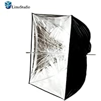 LimoStudio Photo Video Photography Studio 24 Silver Square Multifunctional Softbox Diffuser Reflector Umbrella, AGG1374