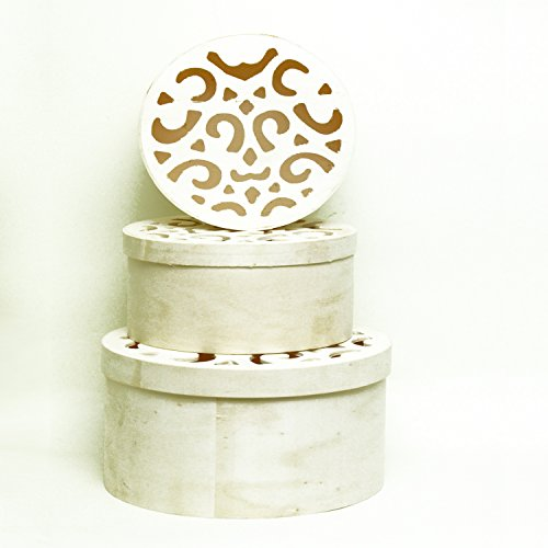 Round Natural Wood Nesting Boxes product image