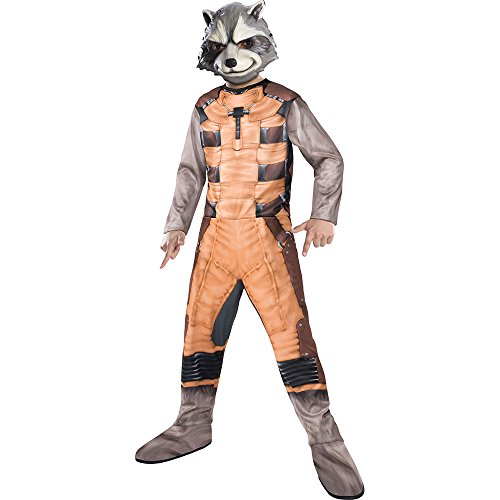 Rocket Raccoon Costume (Rubies Guardians of The Galaxy Rocket Raccoon Costume, Child Small)