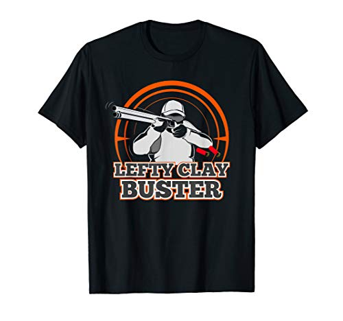 Lefty Clay Buster Skeet Shooting T Shirt Trap Shotgun Gift