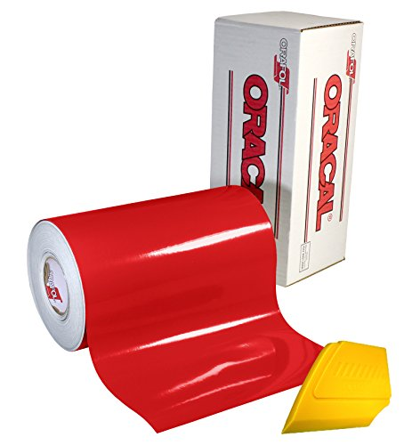ORACAL 651 Gloss Red Self-Adhesive Craft Vinyl Roll (12