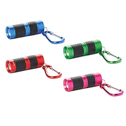 LUX · PRO LP130 40 Lumen Key Chain Focusing Light - 4 Pack Bundle, Colors Vary