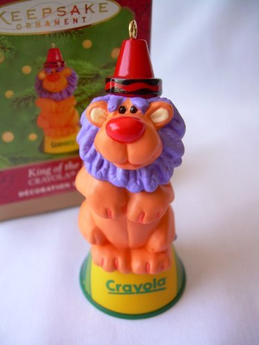 Crayola Circus Crayon King Of The Ring Lion 2000 Hallmark Christmas Ornament (Crayola Ornament)