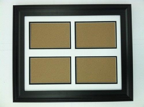 18x24 black frame with white black double