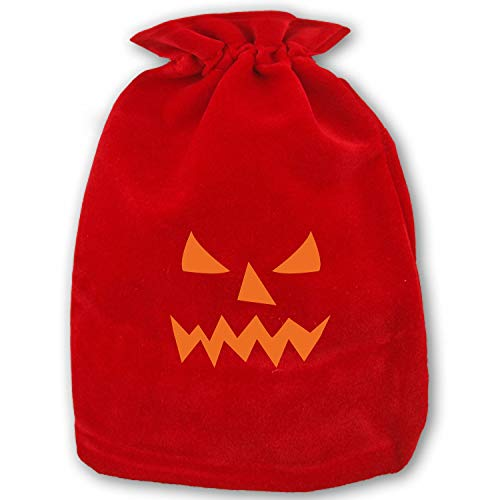 Pumpkin Face Jacolantern Halloween Christmas Gift Bag Xmas Sacks Drawstring Bags Pouch Large -