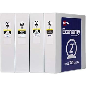 amazon com avery 2 economy view 3 ring binder round ring holds