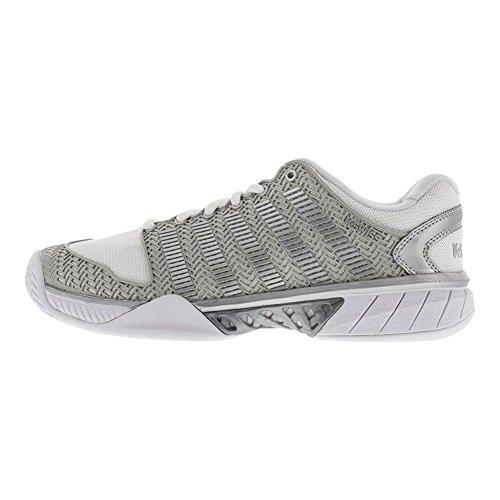 K-Swiss Tennis Shoe-9.5-White/Silver