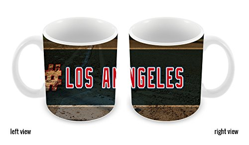 BleuReign(TM) Hashtag Los Angeles #LosAngeles Anaheim Baseball Team 11oz Ceramic Coffee Mug