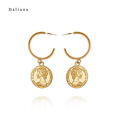 YaochenYW Art Face Dangle Earrings for Women - Abstract Modeling Retro Earrings, Great for Party, Wedding and Daily Use (Gold Hoop - Hoop Abstract