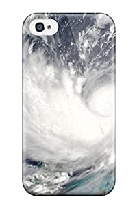 Protective Tpu Case With Fashion Design For Iphone 4/4s (tornado Viewed From Above)