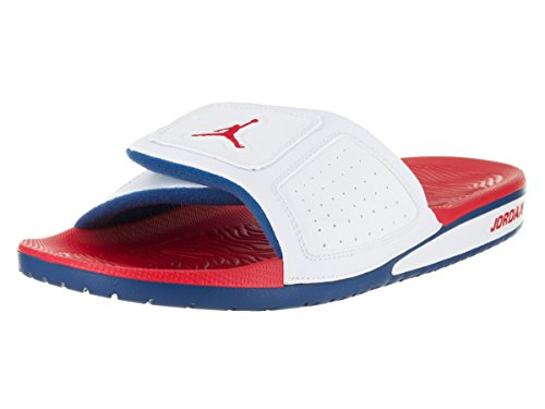Nike Jordan Mens Jordan Hydro III Retro White/Fire Red/True Blue Sandal 9 Men US (Air Jordan Hydro)