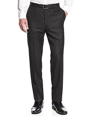 Calvin Klein CK Slim Fit Pindot Flat Front Dress Pants Charcoal 36 x 30