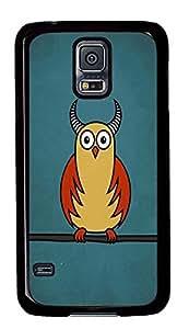 Samsung S5 case custom made Funny Owl Cartoons PC Black Custom Samsung Galaxy S5 Case Cover