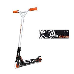 Albott Patinete para Niña Niño y Adultos Patineta de Trucos Freestyle Profesional Aluminio Scooter con 2 Ruedas