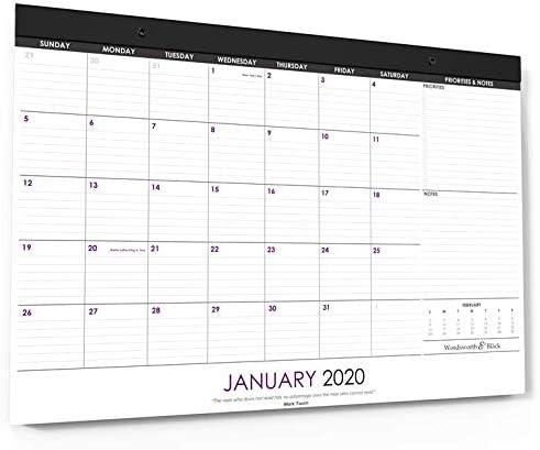 Wordsworth & Black 2020 Calendario mensual de escritorio/pared 17