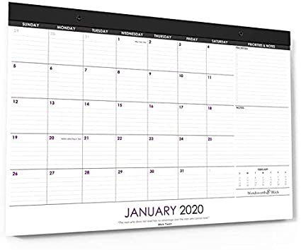 Wordsworth & Black 2020 Calendario mensual de escritorio/pared 17 ...