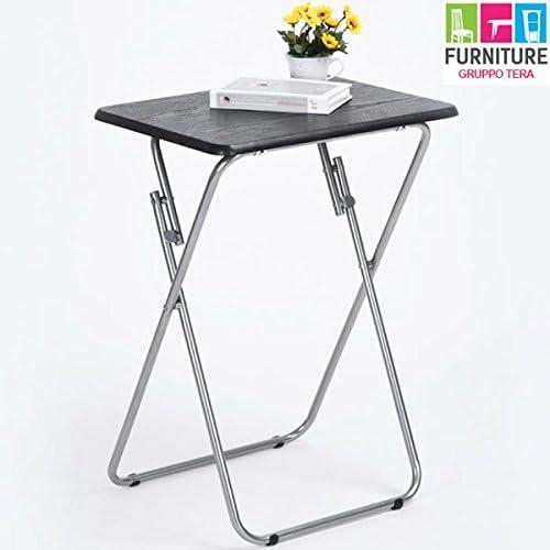 Bakaji mesa plegable mesa camping Barco Jardín Casa Party (Metal y ...