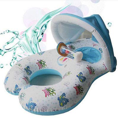 FidgetFidget New Baby Swim Float Safe Inflatable Mother Raft Kid's Chair Seat Play Ring Pool