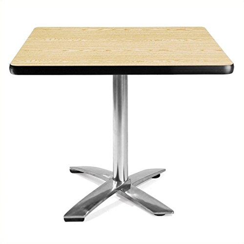 OFM KFT36SQ-OAK Square Folding Multi-Purpose Table, 36'', Oak by OFM