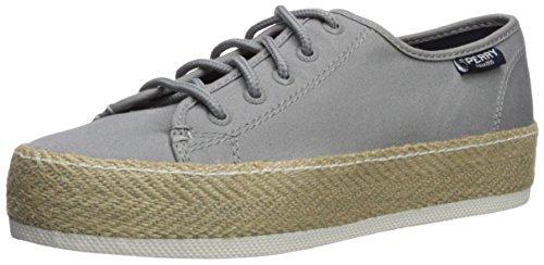 SPERRY Women's Sky Sail Jute Wrap Sneaker, Grey, 11 Medium US