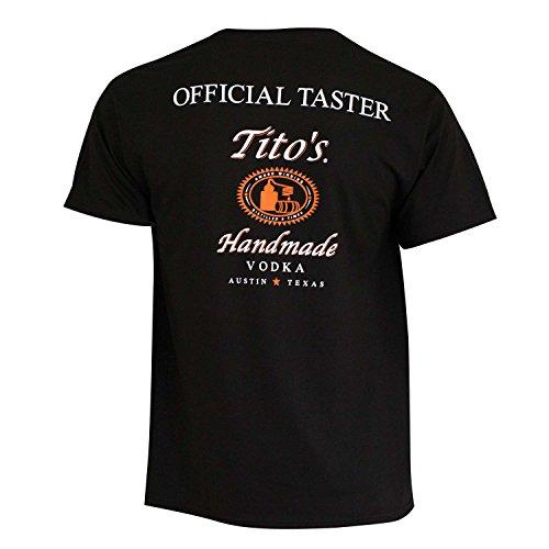 (Titos Vodka  Men's Taster Tee Shirt, Small ,Black)