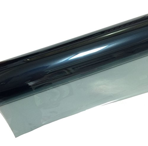 SolarKing 90% IR 70% VLT SK9070 Automotive Car Shatterproof UV Blocking Nano Ceramic Window Tint Film Roll 30' x 10' Bulk Self Adhesive Tinting Kit with Scraper, Light Blue