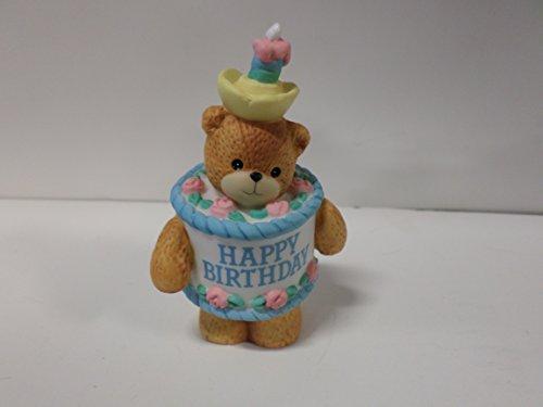 Lucy & Me Series (Enesco) **Bear Dressed Birthday Cake Figurine** 127582