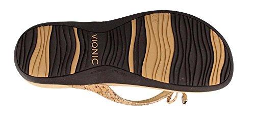Womens Rest Bella Ii Toepost Sandal Gold Cork Talla 5