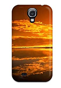 Perfect Design Amazing Orange Sky Case Cover For Galaxy S4