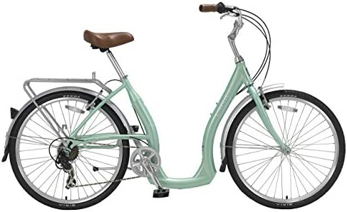 BIRIA Easy Boarding 7 Speed Step Through Cruiser Bicycle 15.5 Aqua Green