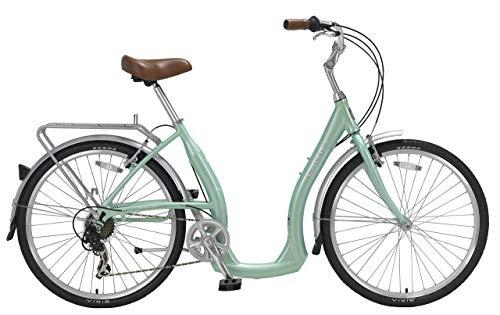 Biria Easy Boarding 7 Speed Step Through Cruiser Bicycle 15.5 Aqua Green