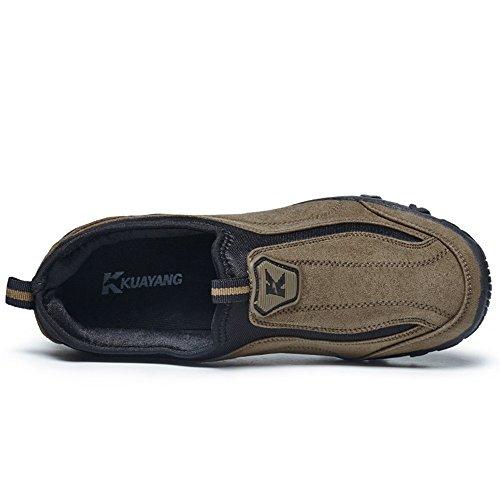 Scarpe Scarpe con Uomo Fashion Casual Piatto Tacco Marrone da Slip da Sneaker Uomo on da Cricket Sportive nOUIBwqfx