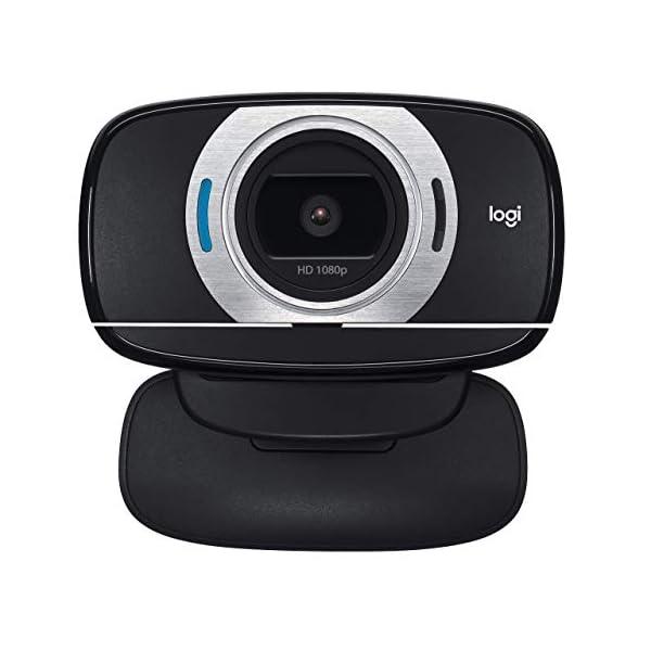 Logitech HD Laptop Webcam C615 with Fold and Go Design 360 Degree Swivel 1080p CameraRenewed