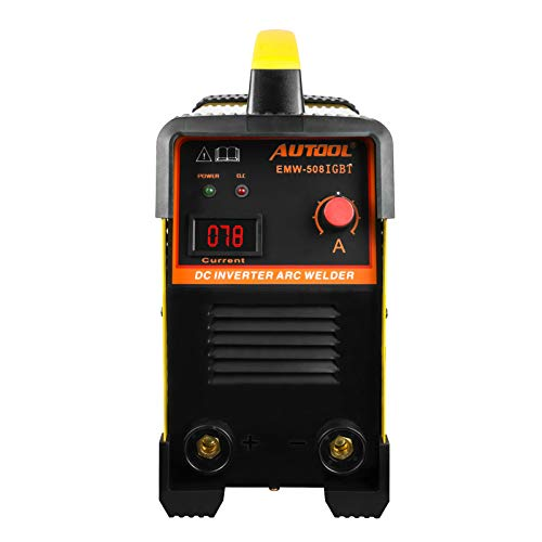 "AUTOOL EMW-508 ARC Welding Machine, Arc-200 DC 20-160Amp Welder Overheat Protection IGBT Portable Welding Machine Assembly Fit with 1/8"" Rod, 110V/220V, US Plug"