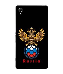ColorKing Football Russia 25 Black shell case cover for Sony Xperia Z5
