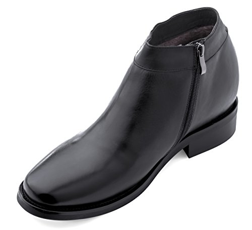 Image of CALDEN K50658-3.2 Inches Taller - Size 10 D US - Height Increasing Elevator Shoes (Black Dress Boots)