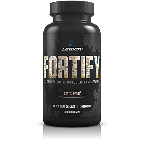 Legion Fortify Joint Pain Supplement - Best Natural Remedy for Anti Inflammation and Improving Joint Mobility. Reduces Stiffness in Jaw, Facet, SI, Hands, Finger, Toe, Hip, Knee & Back. 30 Servings