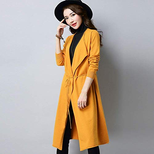 Libero Gelb Colore Outerwear Manica Maglia Parigine Tempo Cardigan 1q0wrW1Z
