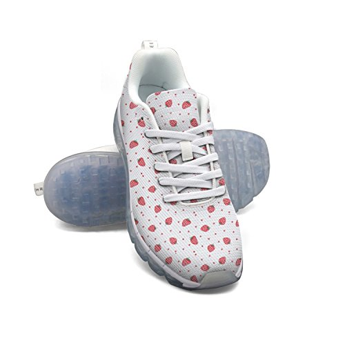 Strawberry Cute Funny Berry Fruit Air Cushion Casual Walking Sneakers Shoes For - Pantry Tart