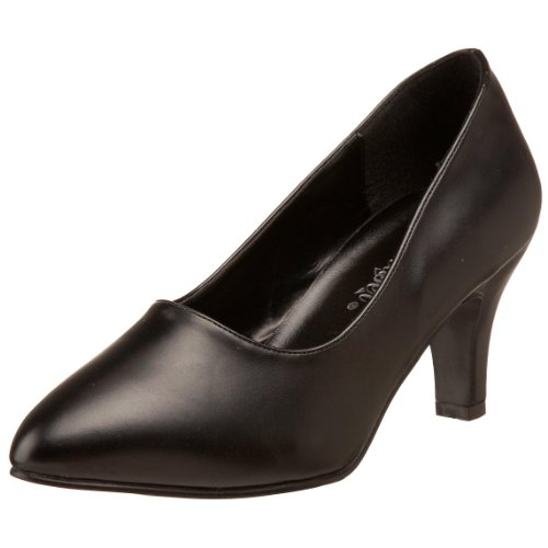 Pleaser Women's Divine-420W Pump,Black PU,14 M US Divine High Heel Heels