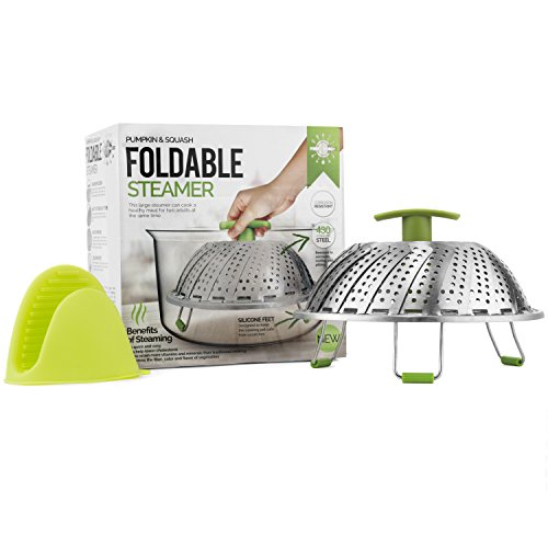 Food and Vegetable Steamer Basket, Perfect Fit for Instant Pot - and Won't Scratch // Large 11