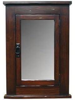 Primitive Mission Recessed Medicine Cabinet / Dark Finish / Rustic / Solid  Wood U0026 Handmade