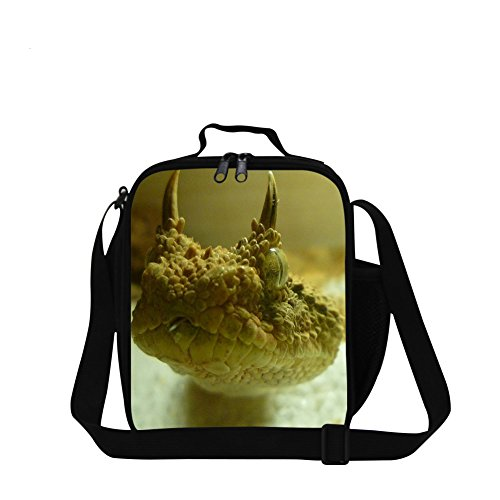 Dispalang Snake Printed Small Lunch Box Bag for Children School Cooler Bags (Snake Printed)